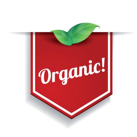 vector organic label Reklamní fotografie - 37293550