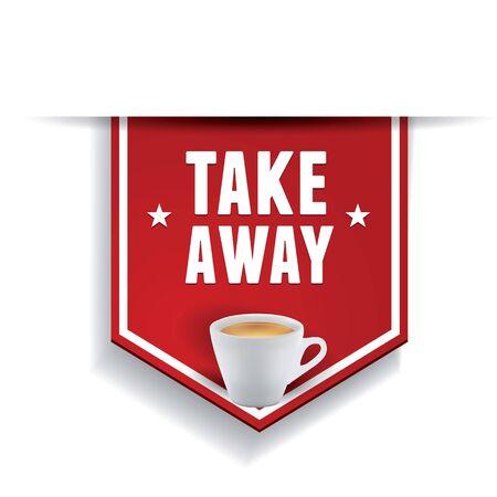 take: Coffee - Take away sticker label