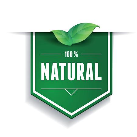 Natural label or ribbon Ilustrace