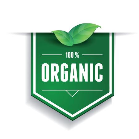 유기농 라벨 또는 리본