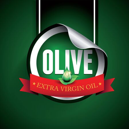 Olive oil label or sticker Ilustrace