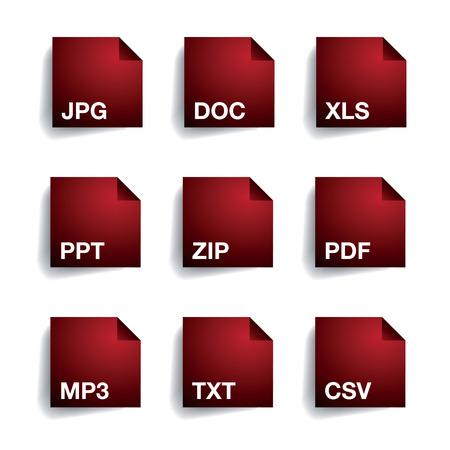 xls: File type folder icon set