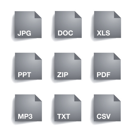uncompressed: File type folder icon set