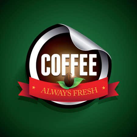 Coffee label vector sticker