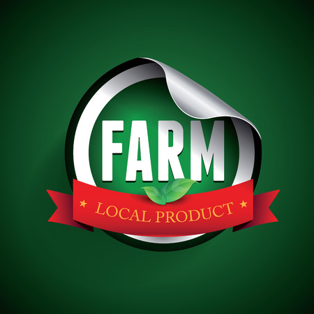 Fram local product label or sticker