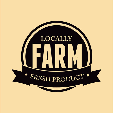 inspected: Farm food label, badge or seal Illustration