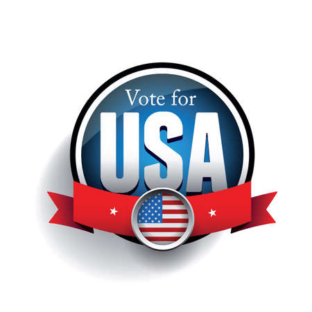 pealing: Vote poster with USA flag Illustration