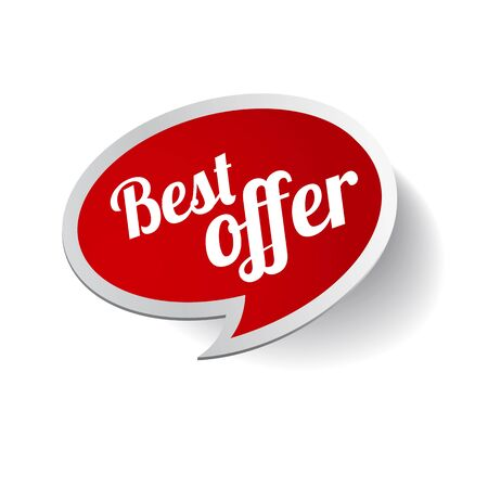 Red Best offerlabel