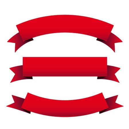 Red ribbon set
