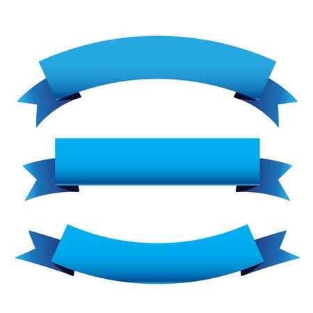 cintas: Set de la cinta azul Vectores