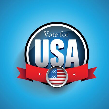 Vote poster with USA flag Illustration
