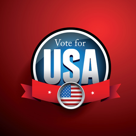 nomination: Vote poster with USA flag Illustration