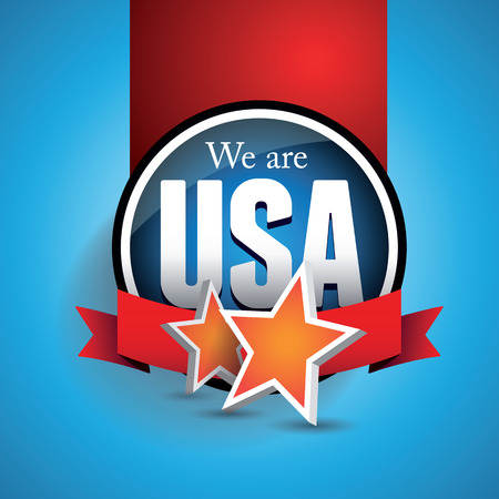 pealing: We are USA Illustration