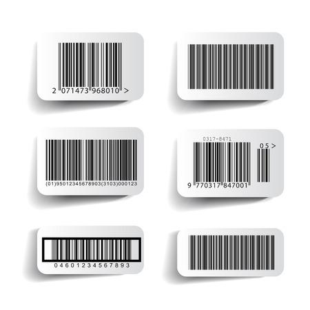 Barcode label set vector Illustration