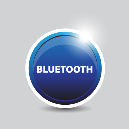 bluetooth: Bluetooth blue button Illustration