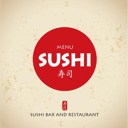 charactor: Sushi bar japan charactor