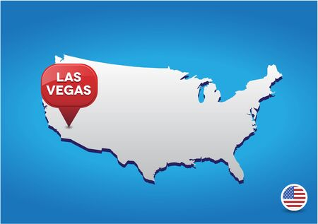 visions of america: Las Vegas on USA map