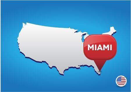 tack: Miami on USA map