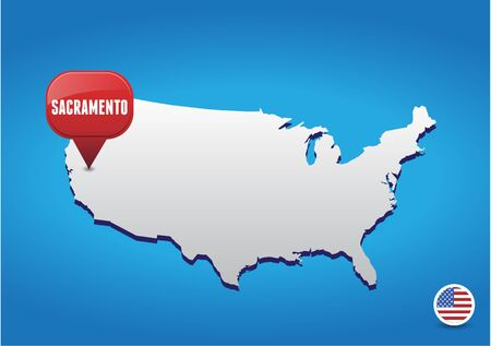 sacramento: Sacramento on USA map