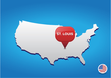St Louis On USA Map Royalty Free Cliparts Vectors And Stock - St louis on a us map