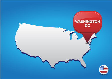 dc: Washington DC on map