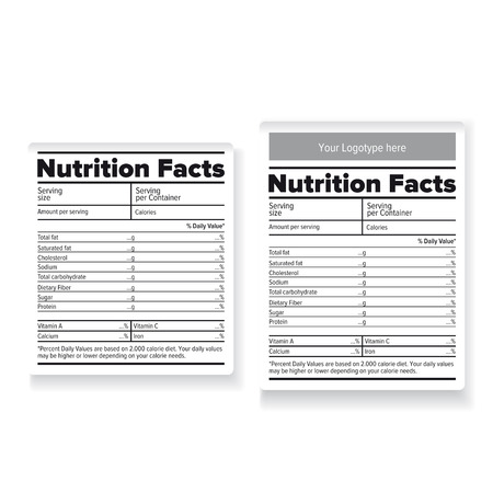 nutrition label: Nutrition facts label or sticker
