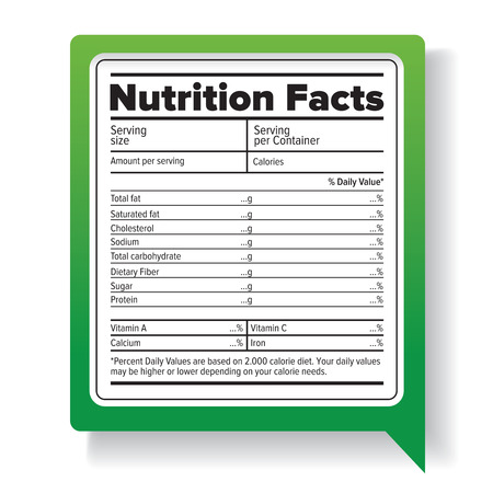 healthy nutrition: Nutrition facts