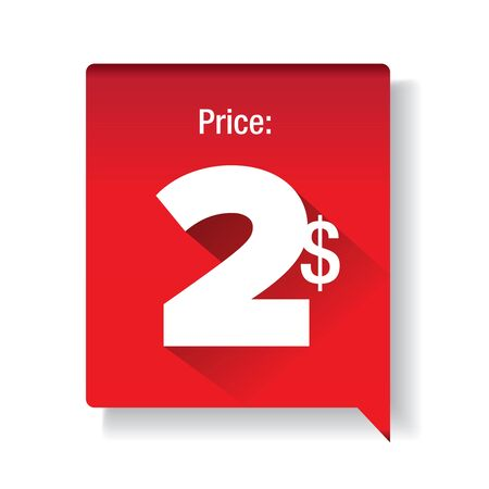 two: Price tag - two dollar Illustration