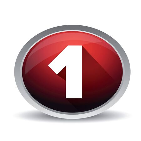 market value: Number one vector button Illustration