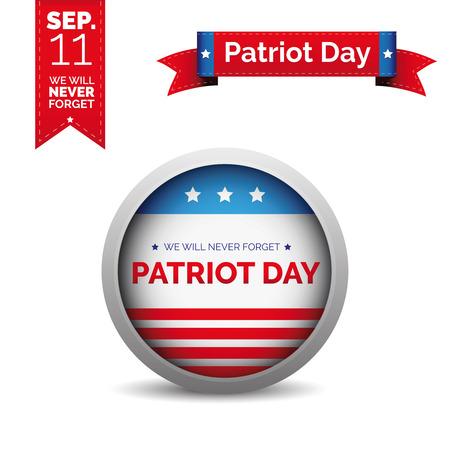 Patriot day vector set