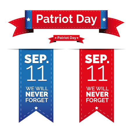 patriotic usa: Patriot day vector set