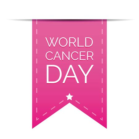 breast cancer awareness ribbon: World Cancer Day ribbon Illustration
