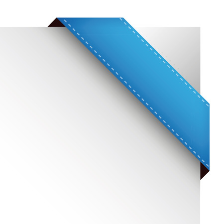 blue ribbon: Vector corner ribbon blue