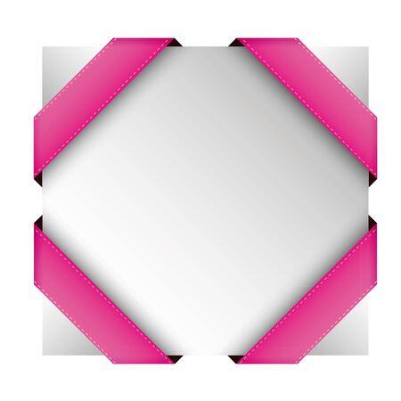 lazo rosa: Vector Cinta de la esquina rosada