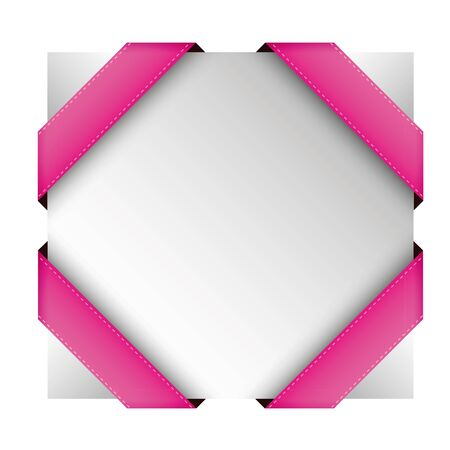 pink ribbons: Vector corner ribbon pink Illustration