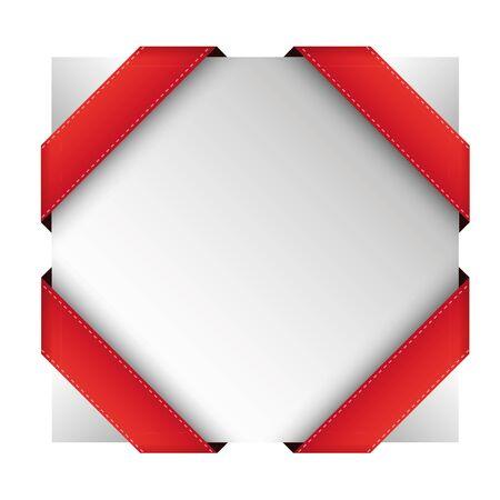 ribbon red: Vector corner ribbon red