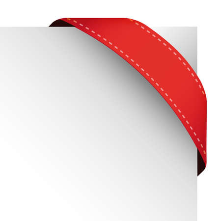 corner flag: Vector corner ribbon red