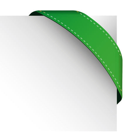 pennon: Vector corner ribbon green