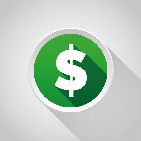 Dollar sign  button Ilustracja