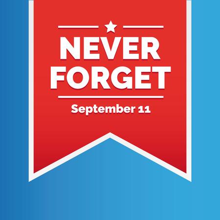 Vergeet nooit - 11 september Stockfoto - 43669616