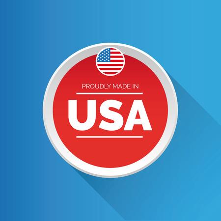 Proudly made in USA Reklamní fotografie - 43614234