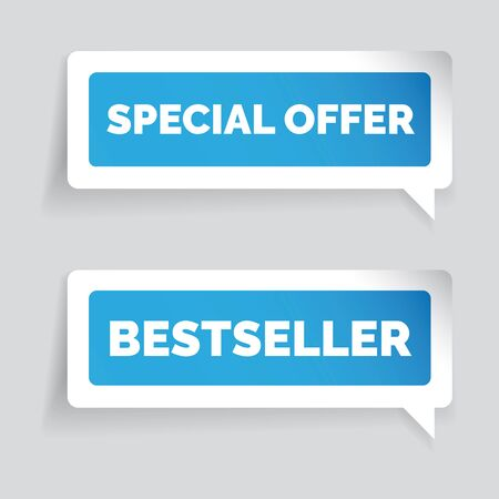 bestseller: Special offer and bestseller sticker vector