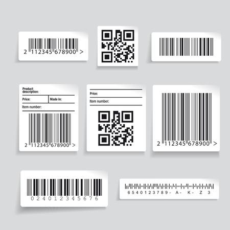 Barcode Label Set Vektor Standard-Bild - 46535759