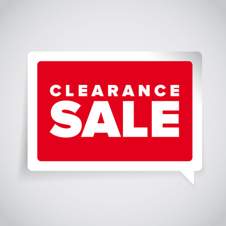 clearance: Clearance sale label vector