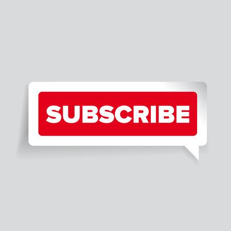 precedency: Subscribe vector label red Illustration