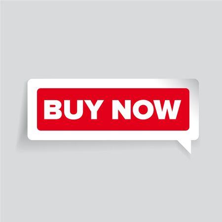 buy button: Buy now vector label