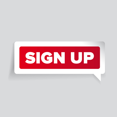 subscribe here: Sign up vector label