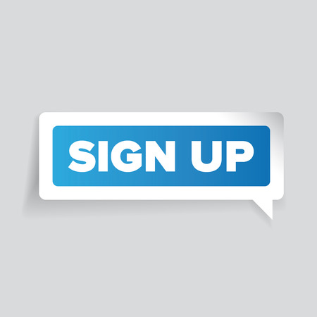 join here: Sign up vector label
