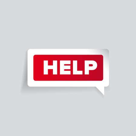 helping: Help label  Illustration