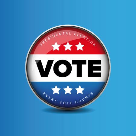 presidental: US Vote badge - Presidental election